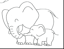 Zoo Animal Coloring Pages For Preschool Cute Baby Elephant Printables Preschoolers Toddlers Full Size