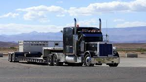 Beautiful Flatbed 18-wheeler With A Mountain Background. | 18 ...