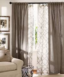 Layer Curtains In The Living Room I Dont Really Care For Print But Love Main Colors Of Drapes