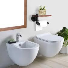 moderne badezimmer regale industrie retro eisen wc papier halter bad hotel rolle papier tissue hängen rack holz regal