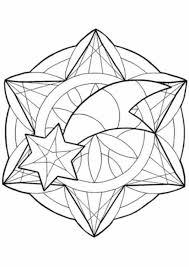 Mandala To Christmas Coloring Page Star