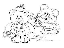 Cute Bear Halloween Costume Coloring Pages