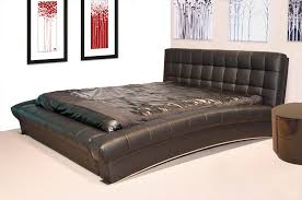 Black Leather Headboard With Diamonds by Cal King Size Faux Black Leather Upholstered Bed Frame With Memory