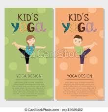 Yoga Kids Vertical Flyer Design
