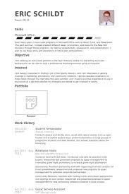 student ambassador resume sles visualcv resume sles database
