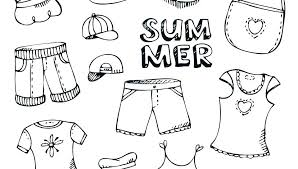 Winter Clothes Coloring Pages Clothing Wt Sheets Colouring