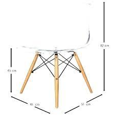 chaise dsw pas cher chaise dsw transparente style transparent eames