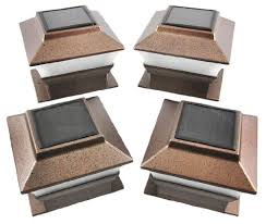 Solar Lights For Deck Stairs by 4 Pack Solar Powered Copper Outdoor Garden Deck Patio Fence