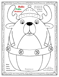 Rollie Pollie Santa Coloring Page Printout More Fun Holiday Activities At SantaTimes