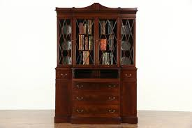 Ebay Cabinets And Cupboards by Maddox Ny Signed 1950 U0027s Vintage Breakfront China Cabinet Or