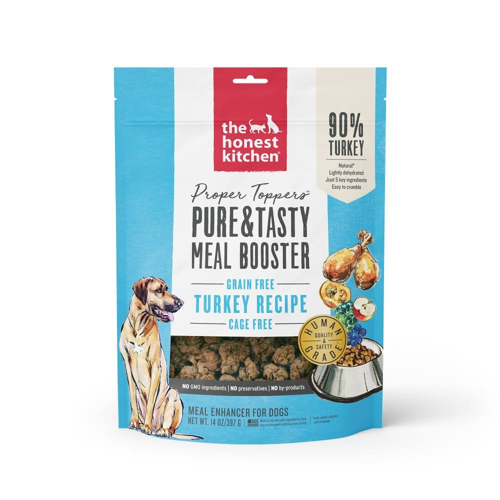The Honest Kitchen Proper Toppers Dog Food Pouch - Turkey, 14oz