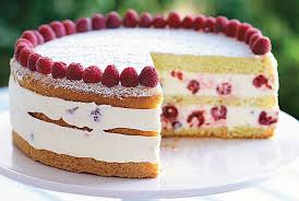 Raspberry Lemon Cream Cake Recipe