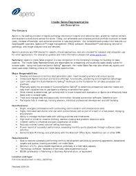 Inside Sales Representative Resume Examples Job D