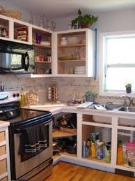 Home Depot Prefabricated Kitchen Cabinets by Tutorial Painting Fake Wood Kitchen Cabinets