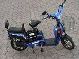 Electric Moped Bikes Scooter Style 2 Adult Seats Pedal Battery 20 Mile Range