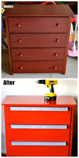 Tool Box Dresser Ideas by Before And After Tool Chest Dresser That U0027s Amazing So Cool