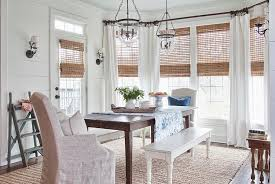 View In Gallery Natural Woven Wooden Shades The Chic Farmhouse Dining Room Design Milk Honey