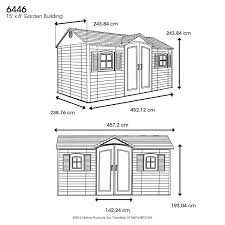 Lifetime 15x8 Shed Uk by Lifetime 6446 8 By 15 Foot Outdoor Storage Shed With Shutters