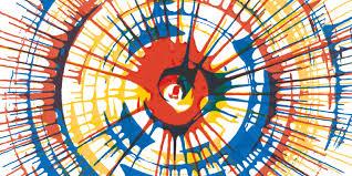 Spin Art Wallpaper Mural