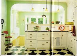 Decor 41 Best Retro Vintage Kitchen Design Ideas With Black And White Tile Floor