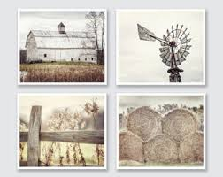 Farmhouse Decor Rustic Country Set Of 4 Modern Primitive Wall