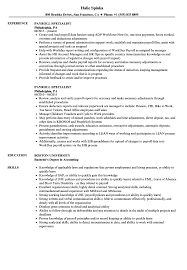 Payroll Specialist Resume Samples