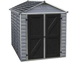 palram 6x8 skylight storage shed kit gray hg9608gy