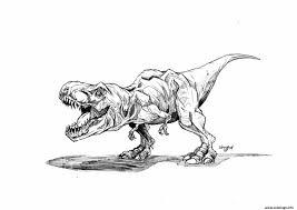 Coloriage A Imprimer Dinosaure TRex 1001 Animaux À Coloriage De