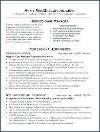 Nursing Home Manager Resume Hospice Case Sample From Nurse Examples