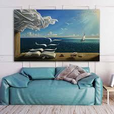 reliabli meer welle buch landschaft poster leinwand malerei wand kunst für wohnzimmer dekoration bilder für zu hause kein rahmen