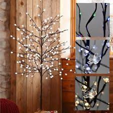 3ft Pre Lit Blossom Christmas Tree by Twig Tree Ebay