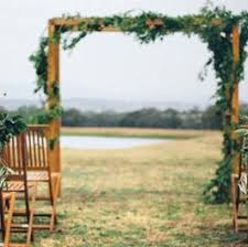 Arch 230cm Rustic Wooden Wedding Ceremony And 30 Folding Chairs Melbourne Hire