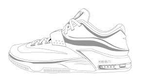 Best Kevin Durant Shoes Coloring Pages Pictures Inside Jordan