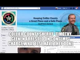 Collier County SHERIFF Timothy Geenen arrested on contempt charge