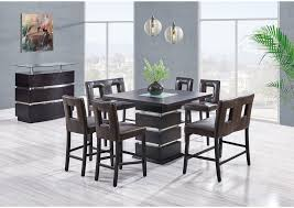Next Day Furniture Wenge Glass Insert Bar Table W 4 Barstools 2