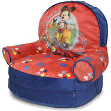 100 Kids Bean Bag Chairs Walmart Disney Mickey Mouse With BONUS Slumber Com