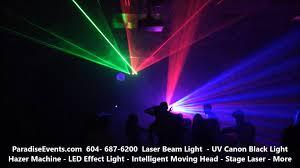 black light party rentals vancouver laser lights party rentals