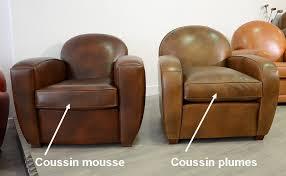 coussin plumes pour fauteuil et canapé club