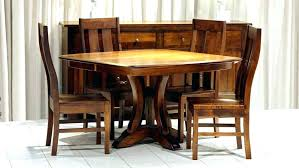 Round Breakfast Table Set Kitchen Dining Room Sets Small For 6 Dark Brown Kijiji Toronto