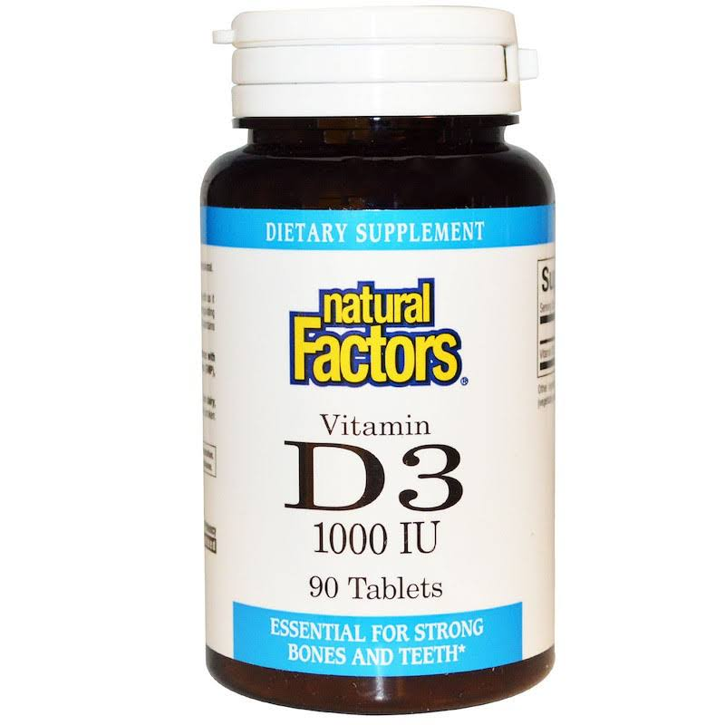 Natural Factors - Vitamin D3 1000 IU - 90 Tablets