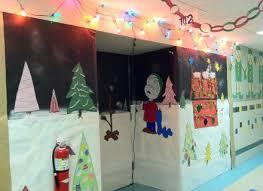 Classroom Door Christmas Decorations Pinterest by Brilliant Ideas Charlie Brown Christmas Decorating Classroom Door