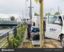 ARD TV Truck In German City Reporting Live – Stock Editorial Photo ...