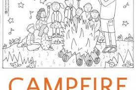 Campfire Coloring Page And A Surprise Conversation