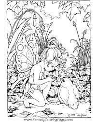 Free Background Coloring Detailed Fairy Pages For Adults