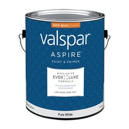 Valspar Aspire Interior Semi-Gloss Paint and Primer - Pure White, 1gal