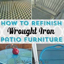 Vintage Wrought Iron Porch Furniture by How To Refinish Wrought Iron Patio Furniture So Much To Make