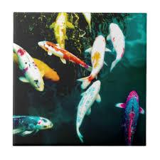 koi fish pond ceramic tiles zazzle