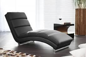 design relaxliege schwarz kunstleder