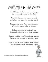 Halloween Acrostic Poem Words by Mummy On The Move Archives The Home Teacher