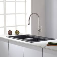 Overmount Kitchen Sinks Stainless Steel by Kitchen 24 Undermount Kitchen Sink Granite Sink Tops Black